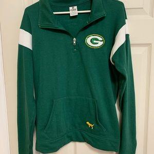 Victoria's Secret Green Bay Packers Quarter Zip